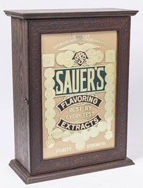 Sauer's Flavoring Extracts Cabinet