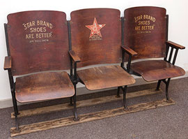 Bank of 3 Star Shoe Chairs