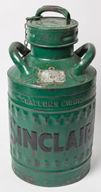 Embossed Sincair Gas Can
