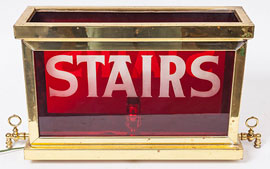 Gaslite Store Stair Sign