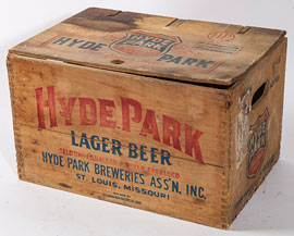 Hyde Park Lager Beer Wood Crate