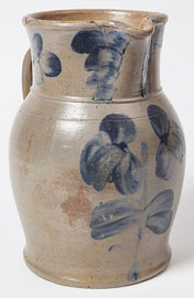 New Geneva Decorated Stoneware Pitcher