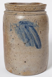 Cobalt Decorated Stoneware Crock
