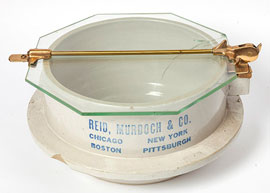 Unusual Stoneware Butter Tub