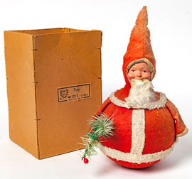 German Rolly-Polly Santa in Box