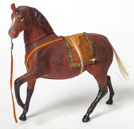 German Composition  Horse Candy Container