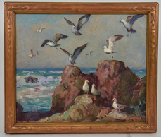 Frank H. Myers (OH/CA 1899-1956) Coastal Oil Painting