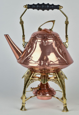 WMF Arts & Crafts Copper & Brass Kettle & Stand