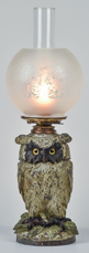 Figural Owl Oil Lamp