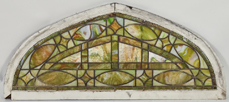 Large Arched Stain Glass Window