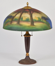 Pittsburgh Reverse Painted Table Lamp