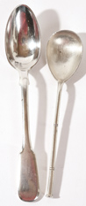TWO RUSSIAN SILVER SPOONS