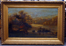 HUDSON RIVER SCHOOL OIL PAINTING ON BOARD