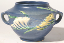 "ROSEVILLE FREESIA 463 - 5"" BLUE VASE"