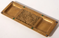 TIFFANY STUDIOS 9TH CENTURY BRONZE PIN TRAY