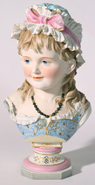 BISQUE PORCELAIN BUST OF YOUNG GIRL