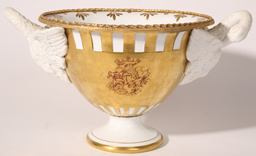 FIGURAL OLD PARIS PORCELAIN PUNCH BOWL