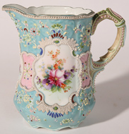 NIPPON MORIAGE & ENAMELED PITCHER