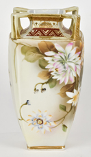 Four Handled Nippon Vase with Floral Decoration