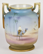 Nippon Vase with Man on Camel