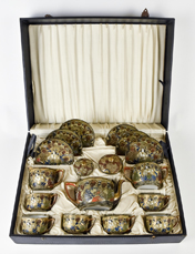Wonderul Boxed Japanese Satsuma Immortals Tea Set