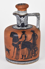 Nippon Wine Jug with Egyptian Scene