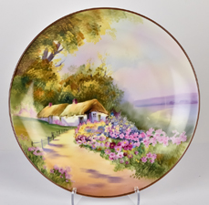 Nippon Scenic Cottage Scene Plaque