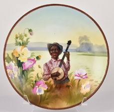 Nippon Plaque with African American Playing Banjo