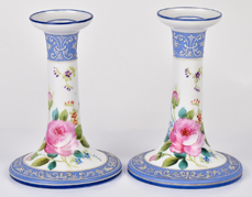Pair of Nippon Wedgewood Style Candlesticks