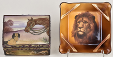 Nippon Covered Box & Tray with Lion