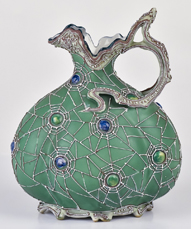 Nippon Ewer with Spiderweb and Jewels Decoration