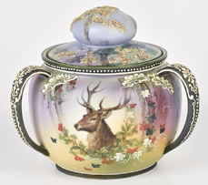 Nippon Tri-handled Humidor with Stag